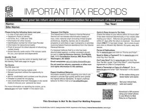 IRS Envelope