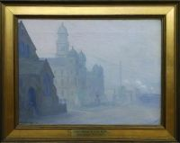 Paintings of Old Wheeling by John Joseph Owens: Court House and City Hall (Ohio County Public Library Special Collections, Wheeling, WV)