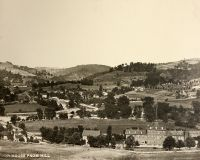 View of Elm Grove from the hill above the poor house. The poor house is no longer standing.