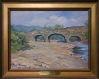 Paintings of Old Wheeling by John Joseph Owens: S Bridge (Ohio County Public Library Special Collections, Wheeling, WV)