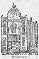 Engraving from the Wheeling Daily Intelligencer, April 9, 1892: The New Temple