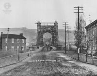 W.C. Brown Photo #52: Suspension Bridge from Wheeling Island