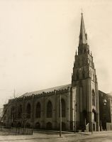The old St. Joseph Cathedral, built about 1847, was replaced with the present cathedral in 1924.