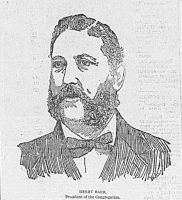 Engraving from the Wheeling Daily Intelligencer, April 9, 1892: Henry Baer, President of the Congregation