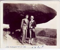 Many thanks to Evelyn Strader for sharing this 1928 photograph of Herman and Melva Rolf visiting the Table Rock. For more on the Table Rock, see: http://www.archivingwheeling.org/blog/a-timeless-curiosity/