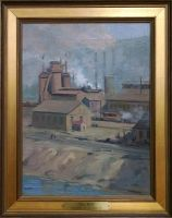 Paintings of Old Wheeling by John Joseph Owens: Top Mill (Ohio County Public Library Special Collections, Wheeling, WV)
