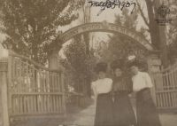 Mt. Wood Cemetery Gates, 1907, Sophia Dauber Grubb Collection, Ohio County Public Library Archives