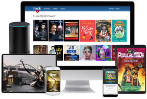 Get ebooks, audiobooks, movies and more through Hoopla