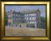 Paintings of Old Wheeling by John Joseph Owens: French's Tavern (Ohio County Public Library Special Collections, Wheeling, WV)