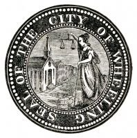 Wheeling's original city seal, from the 1856 city directory.
