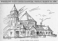 Architects' Drawing of Vance Memorial Church, Wheeling