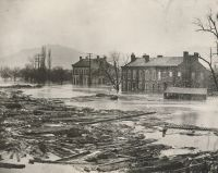 Front Street on the Island during the flood of 1884.
