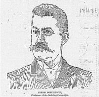 Engraving from the Wheeling Daily Intelligencer, April 9, 1892: Morris Horkheimer, Chairman of the Building Committee