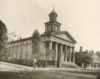 The Old Court House. The cornerstone was laid April 10, 1839 by Ohio Lodge No. 1. This building was razed in 1900 and the Court Theatre structure erected at a cost of more than $170,000.