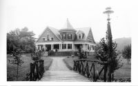 "Residence of Dr. O. W. Burdats [from ""Art work of West Virginia"" booklet ]"