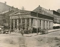 The Exchange Bank was located on the corner of 12th and Main Streets.