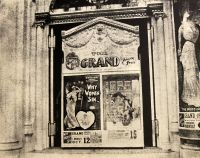 The Grand Opera House doorway. Melodrama was the principle offering.