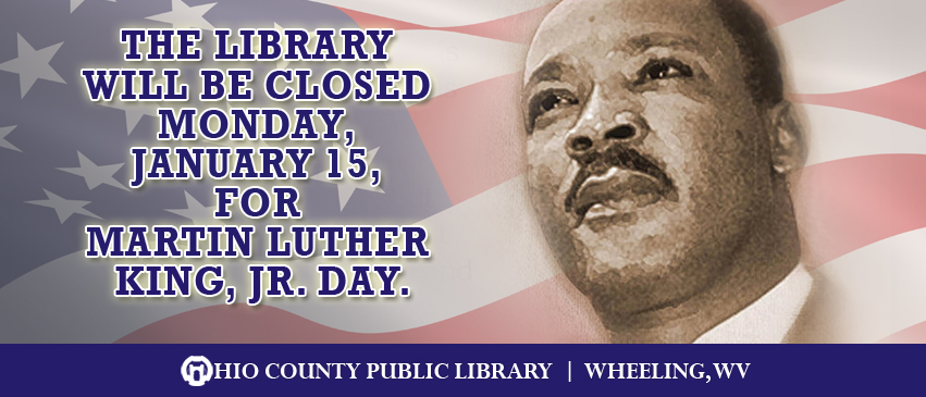 OCPL Closed Monday, January 15, 2018