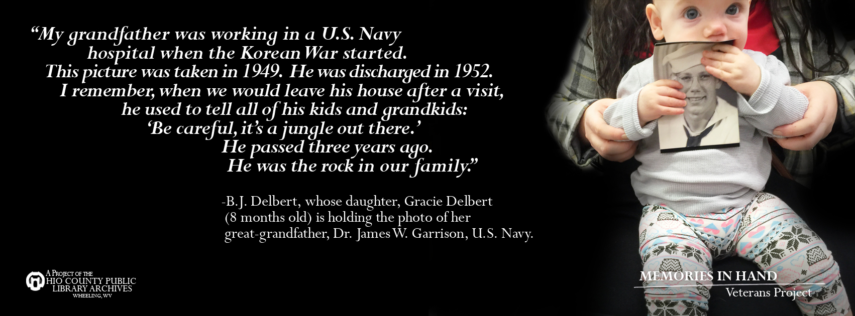 Dr. James W. Garrison, U.S. Navy, Korean War era