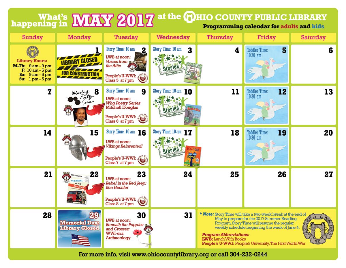 OCPL Programming Calendar: May 2017