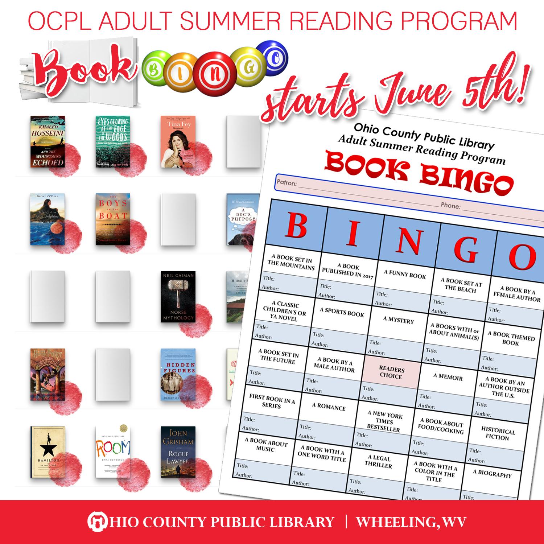 2017 OCPL Adult Summer Reading Program: Book Bingo