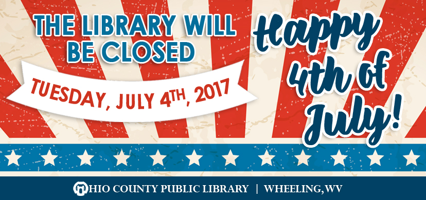 OCPL Closed Tuesday, July 4th, 2017