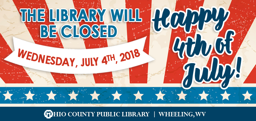 OCPL Closed 4th of July, 2018