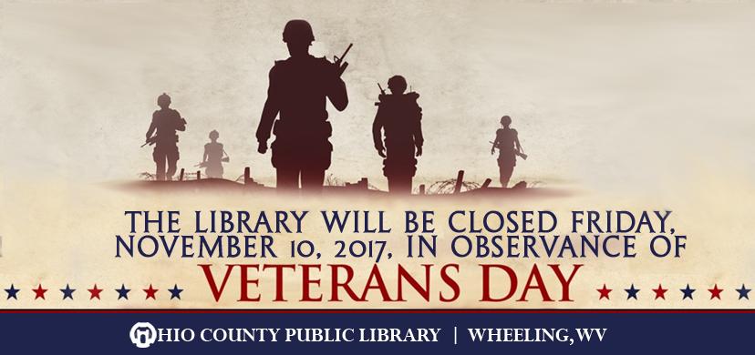 OCPL Closed Friday, November 9, 2017, in observance of Veterans Day