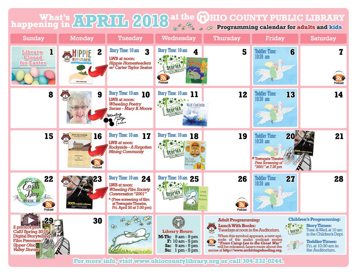 OCPL Programming Calendar: April 2018