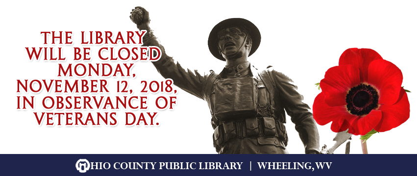 OCPL Closed for Veterans Day, Monday, November 12, 2018
