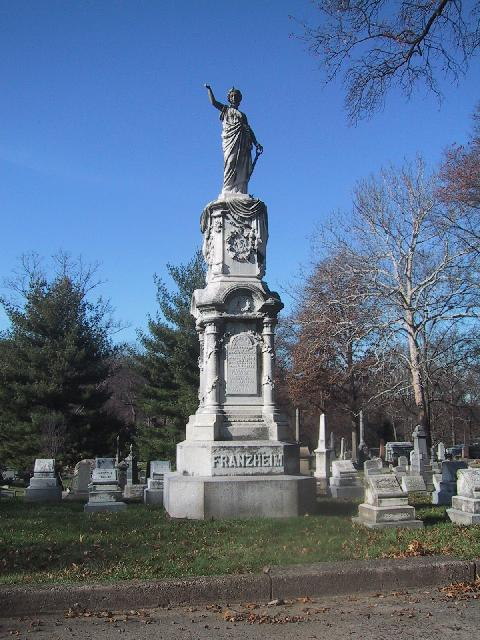 Edward Bates Franzheim Monument in Greenwood Cemetery