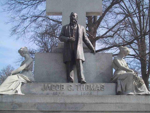 Jacob C. Thomas Memorial at Greenwood Cemetery