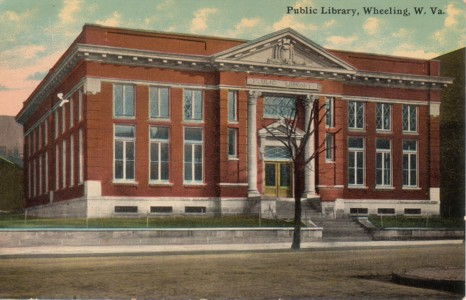 Postcard: Wheeling Public Library, 2100 Market Street