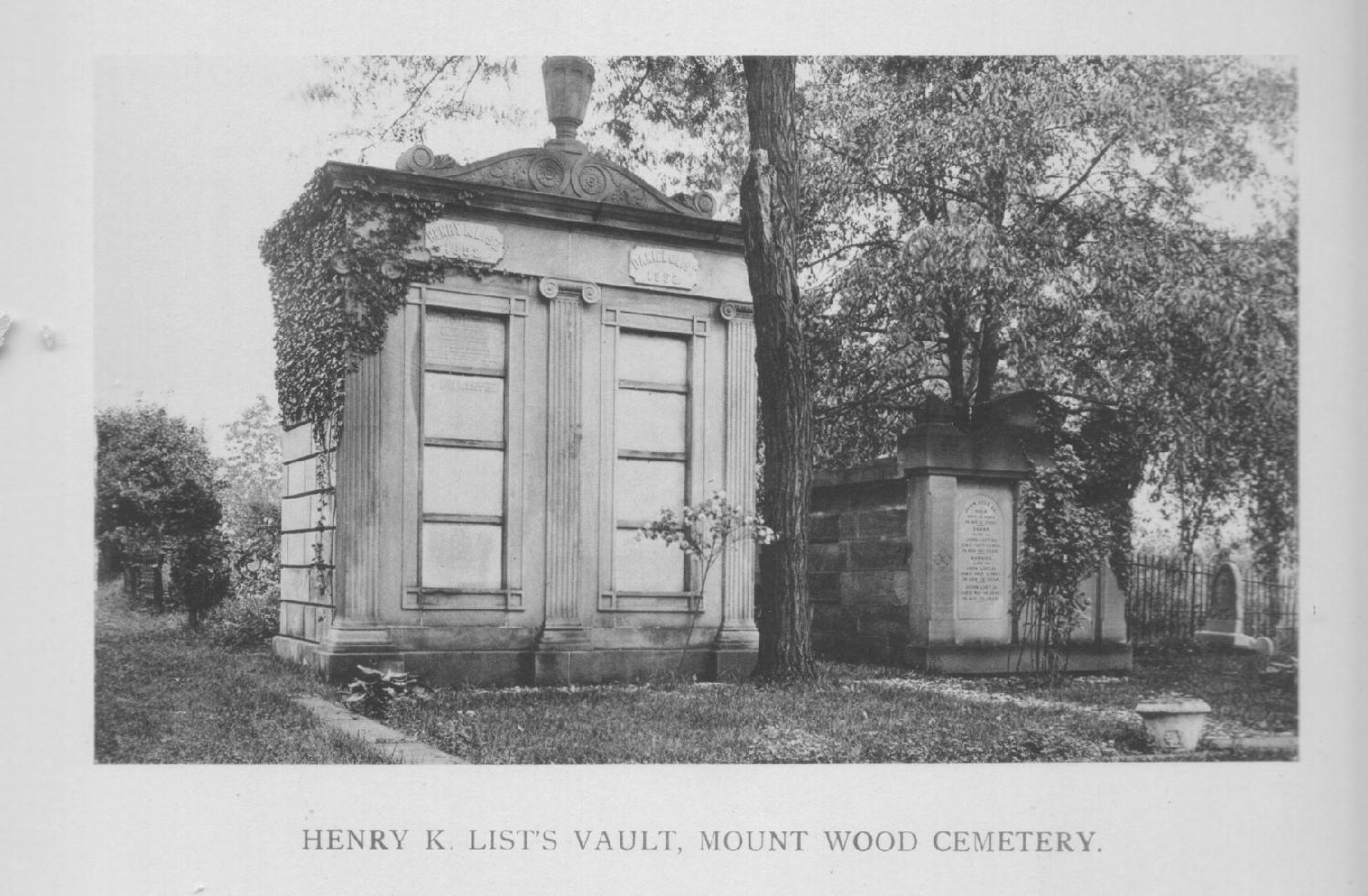 Henry K. List Monument in Greenwood Cemetery