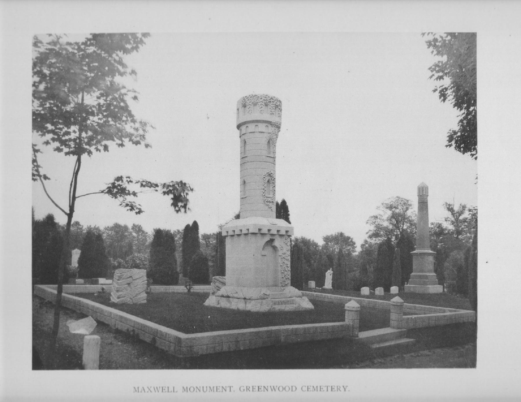 James Maxwell Monument in Greenwood Cemetery
