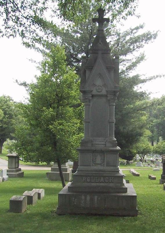 Pollack Memorial at Greenwood Cemetery