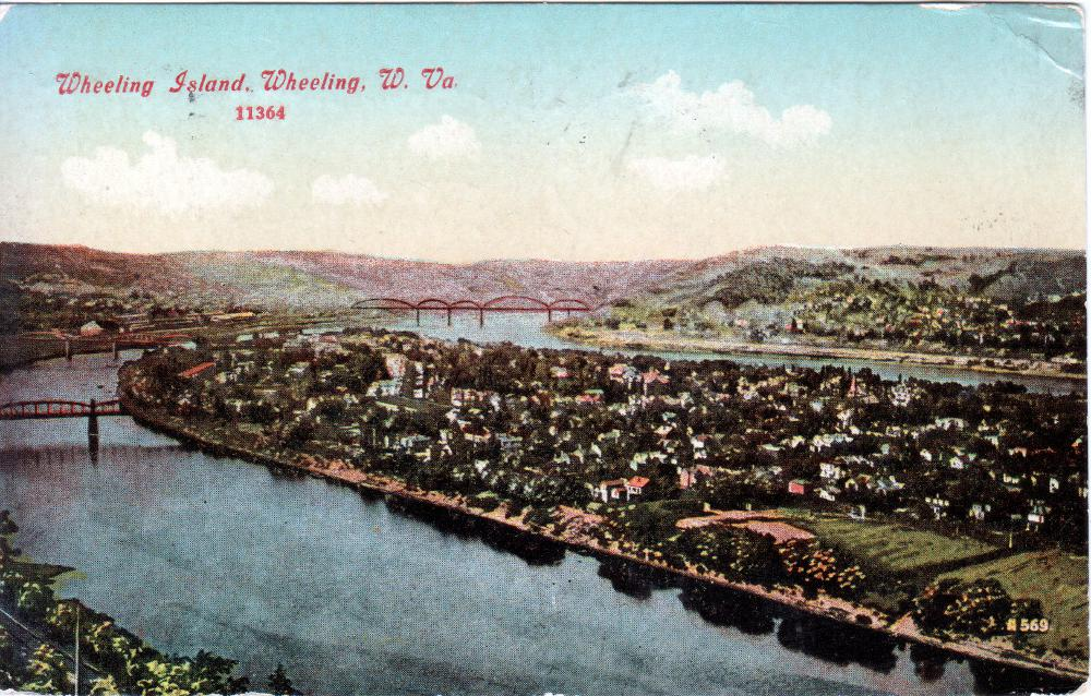 Postcard of Wheeling