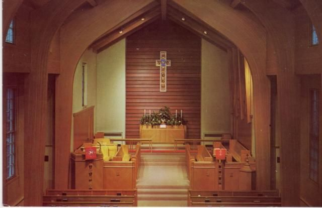 Interior of Christ Methodist Church