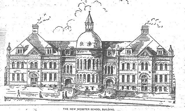 engraving of Webster school