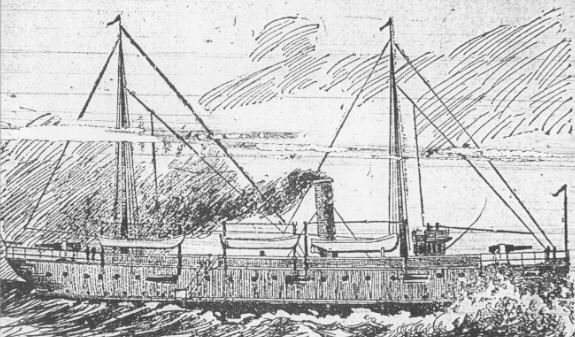 The Gunboat Wheeling, by Casselli, from the Wheeling Daily Intelligencer, Jan. 23, 1897