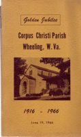 Cover of Wheeling Corpus Christi Parish Golden Jubilee 1916-1966 pamphlet