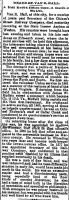 Obituary of Van B. Hall, businessman [ from the Wheeling Intelligencer ]