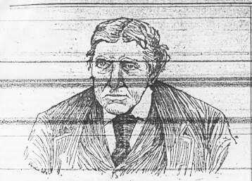 Illustration of Micael Reilly, Wheeling Daily Intelligencer, January 9, 1892.