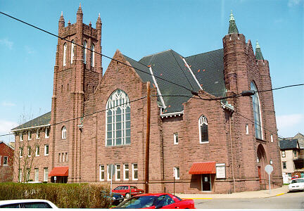 Thomson M. E. Church, S. Broadway St., Wheeling Island. Photo by James Janos, 1998.